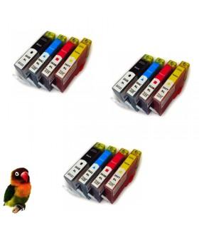pack 12cartuchos compatibles HP 364xl (negro-cián-magenta-amarillo)