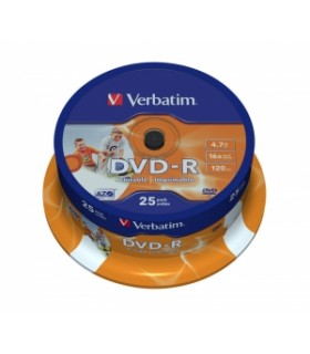 DVD-R VERBATIM 16X PHOTO PRINTABLE TARRINA 25
