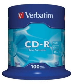 Cd-r Verbatim 700 mb 52x tarrina 100