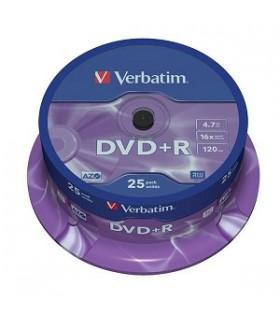 verbatim dvd+r azo 16x tarrina 25 uds.