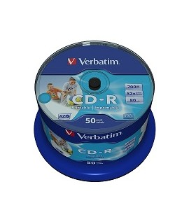 Verbatim cd-r wide photo quality printable tarrina 50 (unbranded)