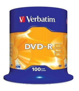 Verbatim dvd-r 16x Tarrina 100 discos