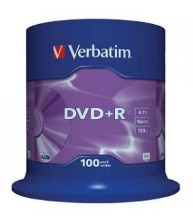 DVD+R VERBATIM MATT SILVER 16X TARRINA 100 UDS.
