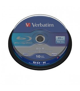 Blue-ray BD-R SL 25GB 6x  tarrina 10 discos