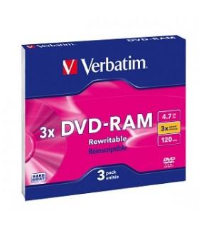 VERBATIM DVD-RAM 4.7GB 3X SLIM 3