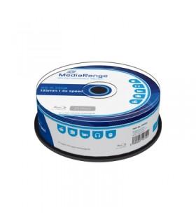 Blu-ray BD-R SL 25GB 4x MediaRange Tarrina 25 uds