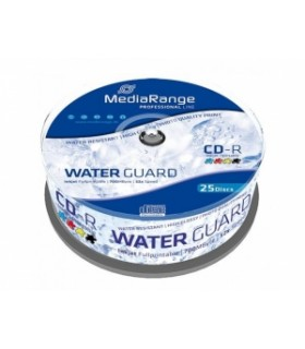 CD-R 52x Waterguard Photo Inkjet Fullprintable Mediarange 25 uds