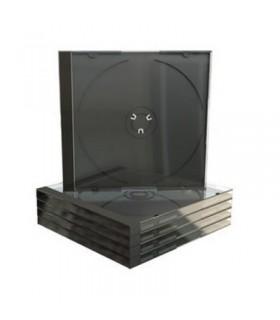MediaRange Caja CD Jewel Bandeja Negra Pack 5 ud