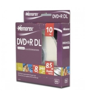 MEMOREX DVD+R DOBLE CAPA 8.5 gb 10 pack 8x