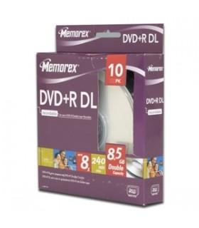 MEMOREX DVD+R DOBLE CAPA 8.5 gb 10 pack 8x