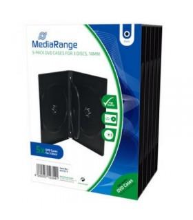 MediaRange Caja DVD para 3 discos Pack 5 uds