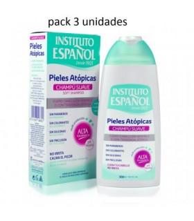 Pack de 3 unidades Champú Suave Pieles Atópicas  300ml Instituto Español