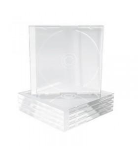 MediaRange Caja CD Jewel 2 discos Bandeja Transparente Pack 5 ud