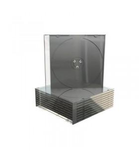 MediaRange Caja CD Slim Bandeja Negra Pack 50