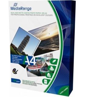 MediaRange Papel Foto Mate Doble Cara 140 G/m2 Pack 100 uds A4