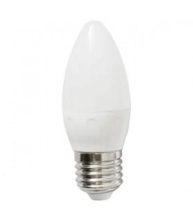 Bombilla LED Bajo Consumo 6W 6400K E27 (450lum) Serie C37