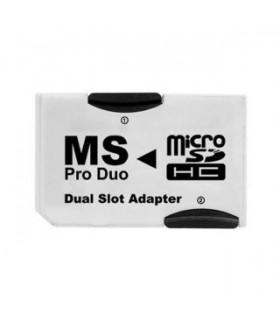 Adaptador Doble MicroSD a Memory Stick