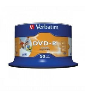 DVD-R 16x Verbatim Printable WIDE NO ID Tarrina 50 uds