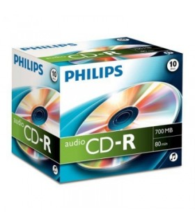 CD-R Audio Philips 80 Min Caja Jewel 10 uds