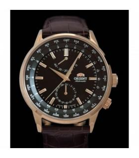 """reloj hombre ORIENT """"Adventurer"""" Worldtimer Rose Gold FFA06001B ZAFIRO AUTOMATICO"""