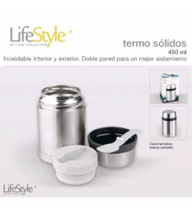 TERMO SOLIDOS INOXIDABLE 400ML LIFESTYLE