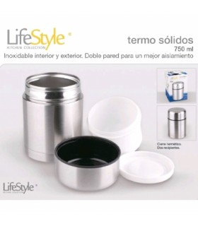 TERMO SOLIDOS INOXIDABLE 750ML LIFESTYLE