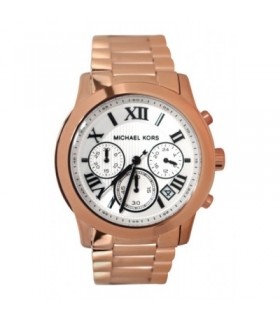 MICHAEL KORS Cooper Chronograph White Dial Rose Gold-tone Ladies Watch