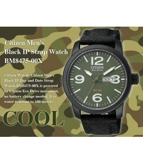 Reloj CITIZEN ECODRIVE MILITAR hombre BM8475-00X