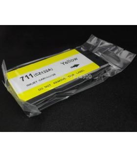 HP 711 AMARILLO CARTUCHO DE TINTA COMPATIBLE CZ132A COMPATIBLE CON HP DesignJet T120 / T520 / T520 2