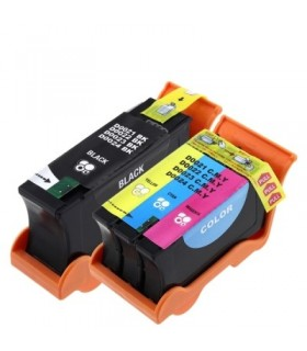 DELL Y498D / X739N / X737N NEGRO + COLOR Tinta compatible Dell V313 / V515 w / / V715 w