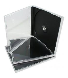 Mediarange CD Jewel Case Single Black Tray 100 cajas