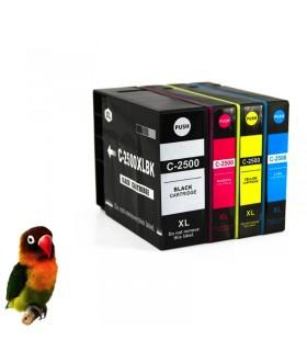 PACK PGI-2500XL 4 tintas (bk-c-m-y) cartuchos compatibles Canon iB4000 / ib4050 / MB5000 / MB5050 /
