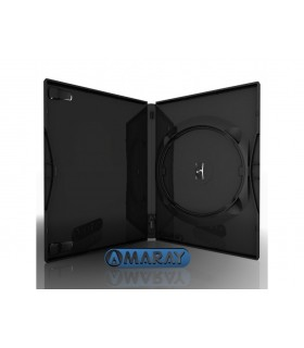 Caja DVD Estándar 14mm Amaray Negra Pack 50