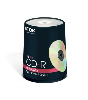 CD-R 52x 700MB TDK Tarrina 100 uds
