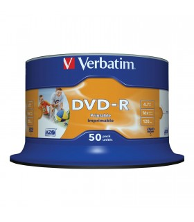 DVD-R 16x Verbatim Printable WIDE ID Tarrina 50 uds