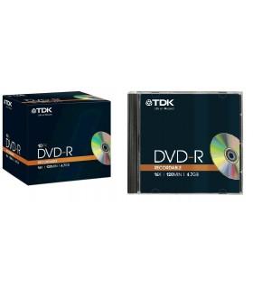 DVD-R 16x TDK Caja Jewel pack 10 uds