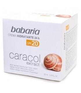 CREMA HIDRATANTE BABARIA 24 H SPF 20 EXTRACTO DE CARACOL