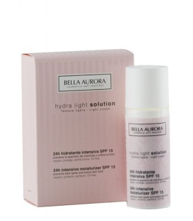 Fluido Hydra Light Solution 24h hidratante intensiva SPF 15 BELLA AURORA 50ML