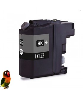 BROTHER LC123/LC121 DCP-J4110 MFC-J4510 MFC-J650, LC123BK tinta negra compatible