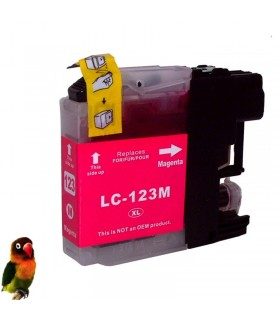 BROTHER LC123/LC121 DCP-J4110 MFC-J4510 MFC-J650 LC123M tinta MAGENTA compatible