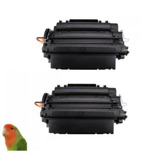 HP CE255X pack 2 tóner compatible HP CE255X/CRG-724 12.500C. P3011/P3015/LBP6750DN