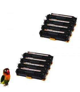 HP CC530A/1/2/3 HP 304A PACK 8 toner compatibles HP CM2320 CM2720 CP2020 CP2025
