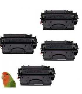4 x HP CE505X / HP 05X  toner compatible HP Laserjet  P2050 P2053  P2055 P2057