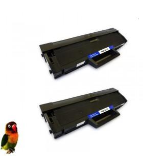 2x Toner compatible para Samsung MLT-D101S (D101) SCX3400 ML2160 SCX3405 SF760