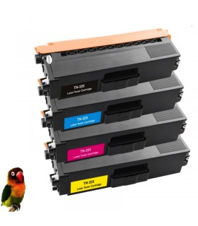 pack 4 toner compatibles Brother TN325 HL-4140/4150/4570 DCP9055 MFC-9460/9465