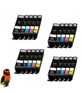 (PGI-550XL,CLI-551XL-BK/C/M/Y) Pack Ahorro 5 tintas  (Alta Capacidad) Canon Pixma IP7250 MG5450 MG6350 MX725 MX925