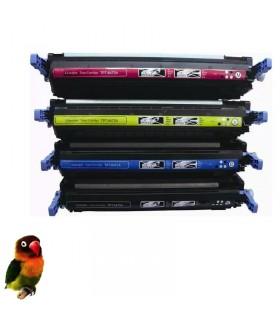 Q6470A/1/2/3 HP pack 4 toners compatibles HP Q6470A-Q6471A-Q6472A-Q6473A