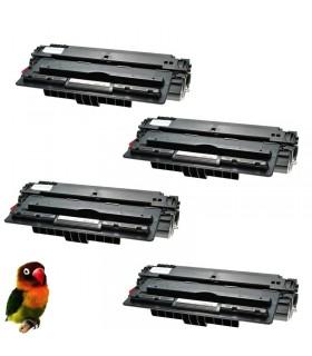 pack 4 Toner compatibles Q7516A HP Laserjet 5200