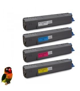 OKI C831 / C841  PACK 4 Toner compatibles  BK-C-M-Y