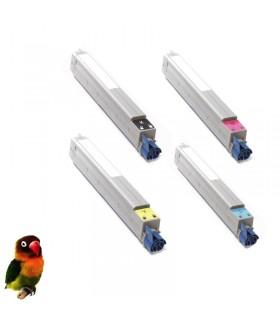 pack OKI ES3640 4 tóners compatibles BK-C-M-Y